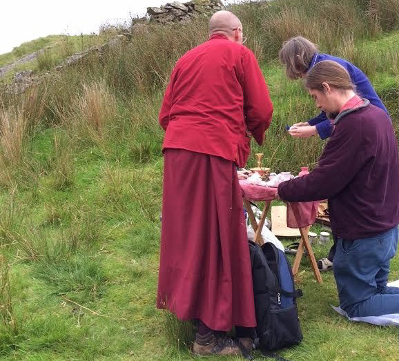 Building a shrine on a sacred site of pilgrimage in North Wales