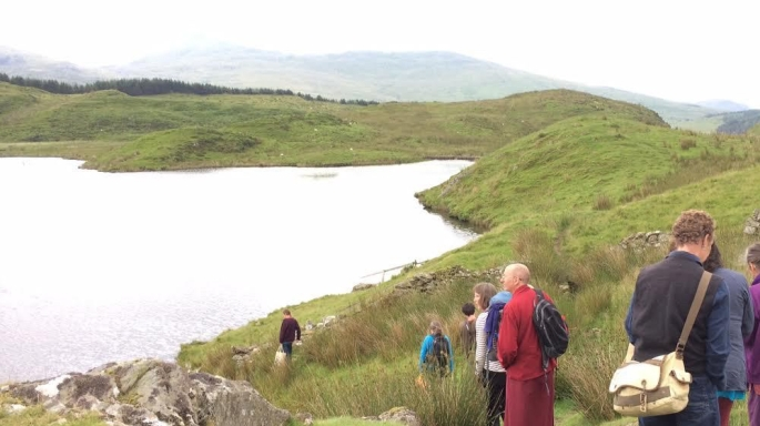 A Buddhist Pilgrimage to a sacred sites in wales