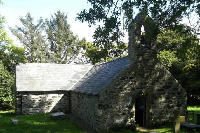 St. Tudwen's church Gwynedd, pilgrimage site with holy well