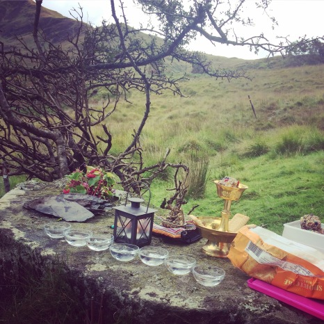 Buddhist Practice of Pilgrimage to sacred sites in Snowdonia North Wales